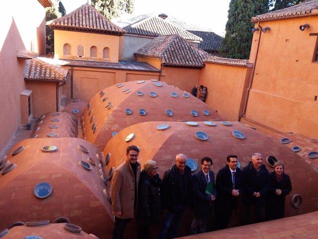 Fin de la primera fase de intervención en Baño Real de Comares, en la Alhambra