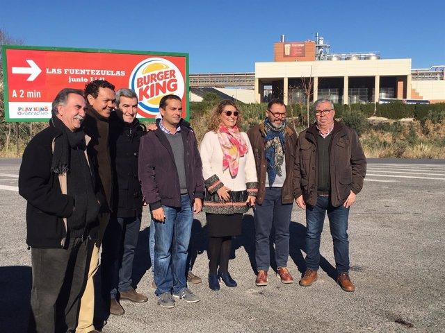 Lugar donde estará la rotonda enmarcada en la vía ciclista urbana de Jaén.
