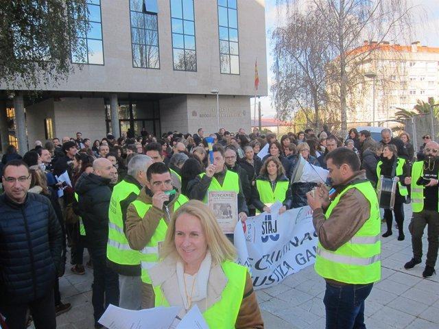 Protestas de trabajadores de la justicia en Galicia