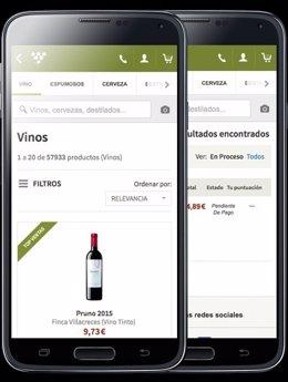 Aplicación de compra vino por Internet Uvinum