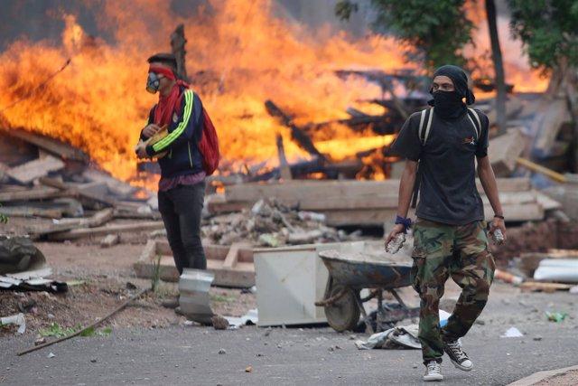 Disturbios en Tegucigalpa por las elecciones presidenciales