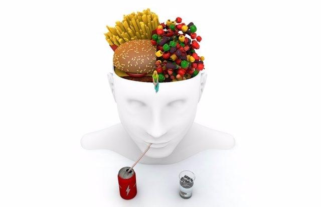 Cerebro, hambre, comer, alimentos