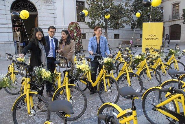 Presentación del servicio de alquiler de bicis de Ofo