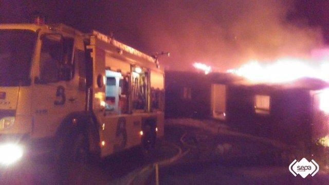 Incendio en Llanera.