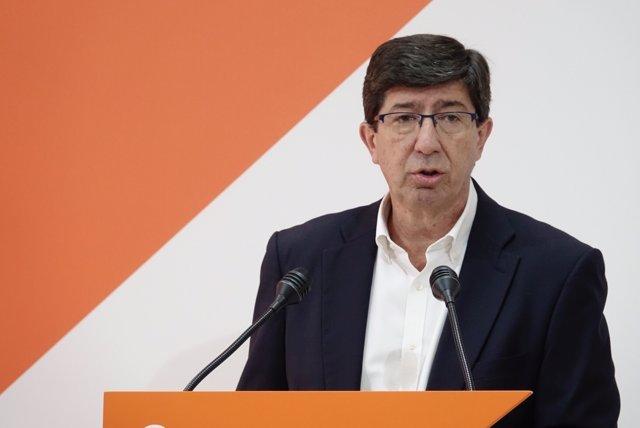 El presidente y portavoz de Ciudadanos en Andalucía, Juan Marín