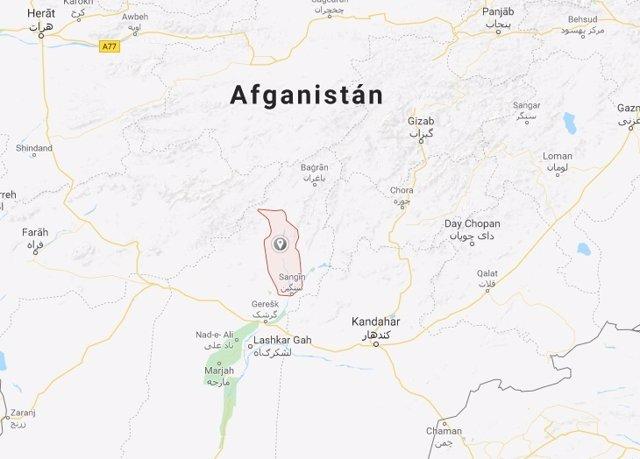 Musa Qala (Afganistán) - Mapa recurso