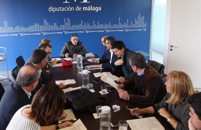 Elias Bendodo reunión Diputación de Mñálaga