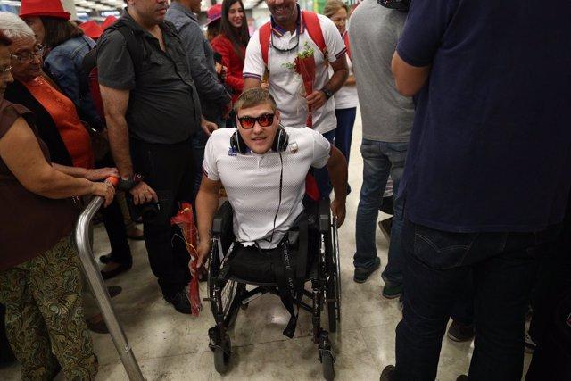El equipo español de paralímpicos vuelve a Espala tras los Juegos de Río