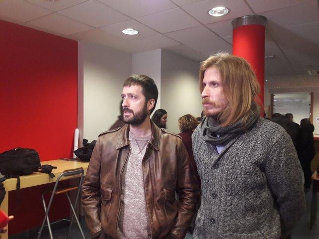 Valladolid. Juanma del Olmo y pablo Fernández