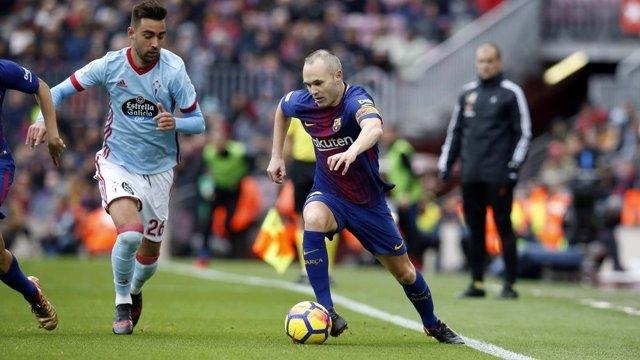 Andrés Iniesta Barcelona Celta Brais Méndez