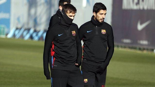 Entrenamiento Barcelona Luis Suárez