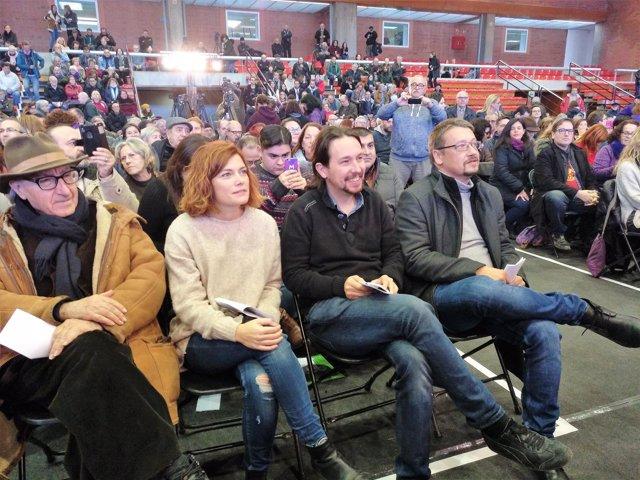 Vicenç Navarro,Elisenda Alamany,Pablo Iglesias,Xavier Domènech,'comuns'