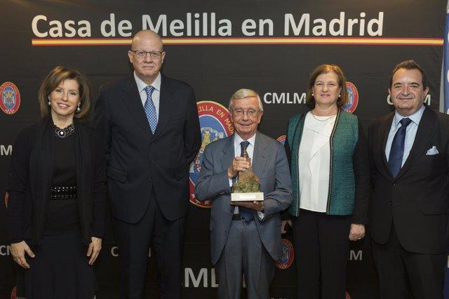 Entrega de premio de la Casa de Melilla en Madrid