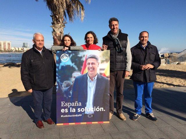 Presentación del cartel de campaña del PP para el 21D