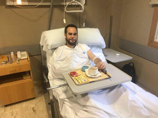 Jorge Blass en el hospital tras ser atropellado