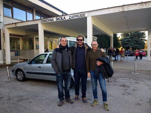 Profesores del IES Sabina Mora en un centro de Zagreb (Croacia)