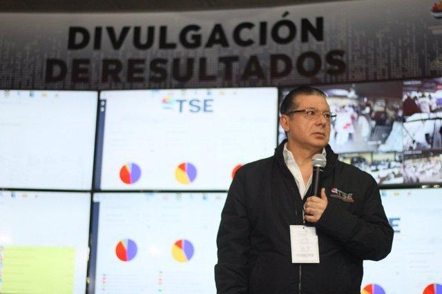 El presidente del Tribunal Supremo Electoral de Honduras, David Matamoros