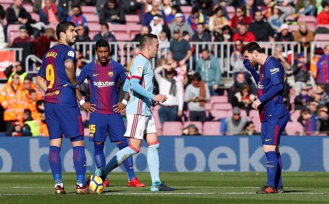 Barcelona Celta Iago Aspas Leo Messi Paulinho Luis Suárez