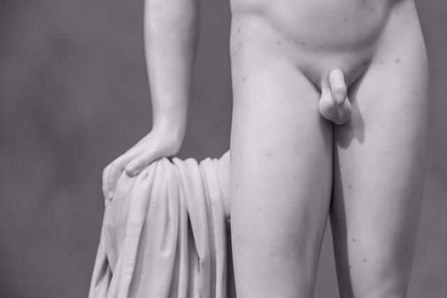 Hombre, David de Miguel Angel, escroto