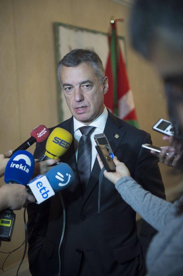 Urkullu sobre decisión de encarcelar a Junqueras