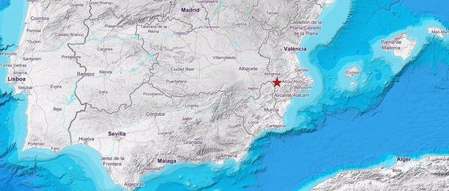 Terrenoto de magnitud 4 en caudete (Albacete)