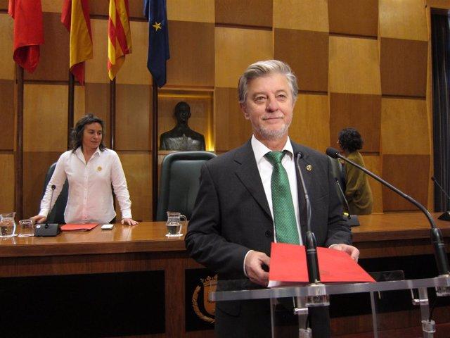 El alcalde de Zaragoza, Pedro Santisteve.