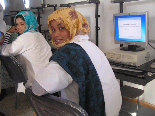 Aula informática de la Universidad de Tifariti.