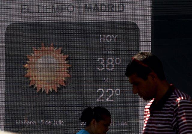 Sol, calor, temperaturas, termómetro, buen tiempo
