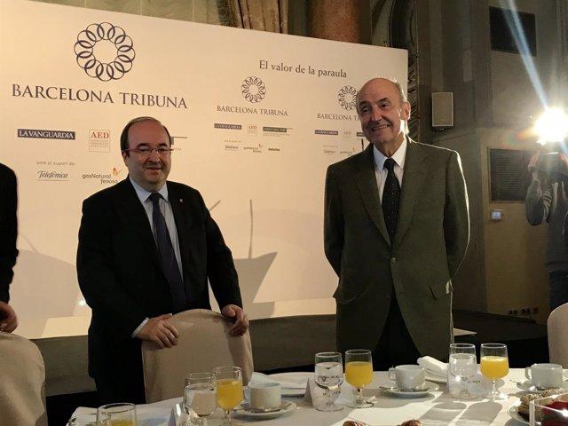 Miquel Iceta (PSC) y el constitucionalista Miquel Roca
