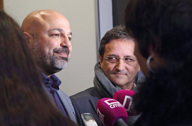 García Molina y Vázquez atienden a los medios