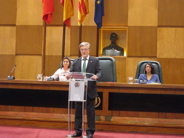 El alcalde de Zaragoza en el debate.
