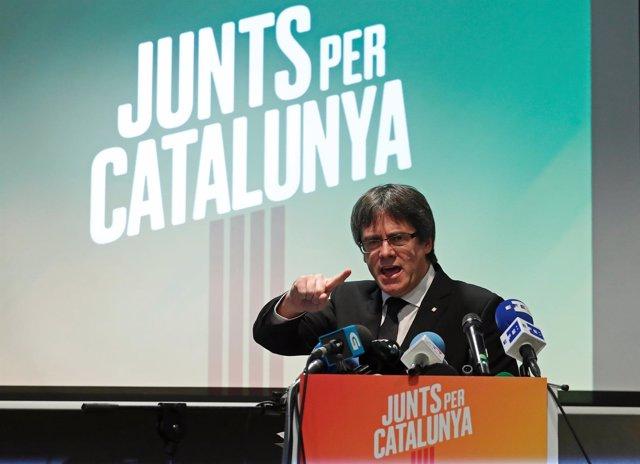 Puigdemont presenta Junts per Catalunya en Bélgica