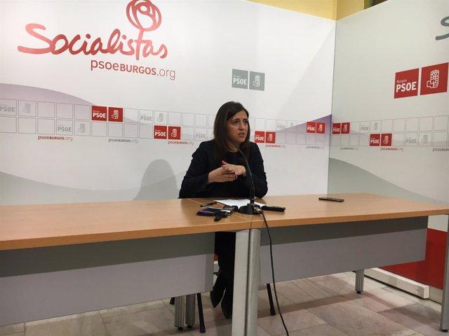 Esther Peña, secretaria del PSOE de Burgos.
