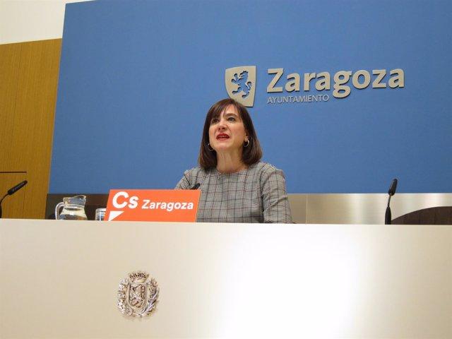 La portavoz del grupo municipal de Ciudadanos en el Ayuntamiento, Sara Fernández