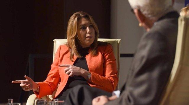 Susana Díaz junto a Rafael Escurerdo en los encuentros de la Ser sobre el 4D