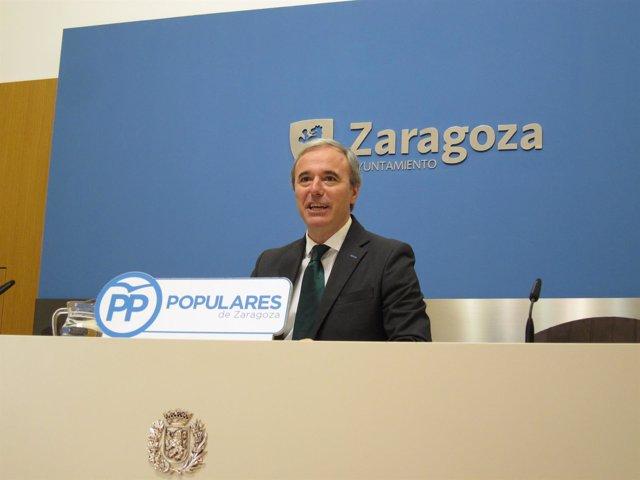 El portavoz del grupo del PP en el Ayuntamiento de Zaragoza, Jorge Azcón.