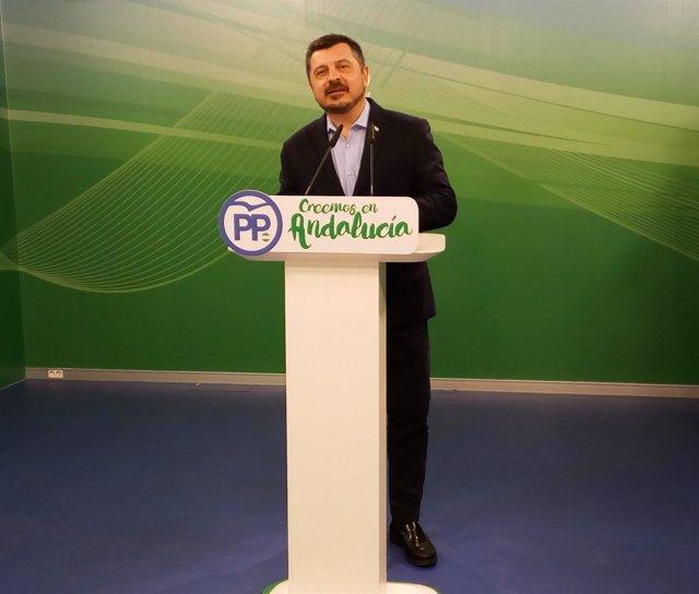 El vicesecretario de Organización, Formación y Electoral del PP-A, Toni Martín