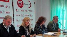 Carmen Castilla (UGT-A) y Nuria López (CCOO-A) valoran el paro de noviembre