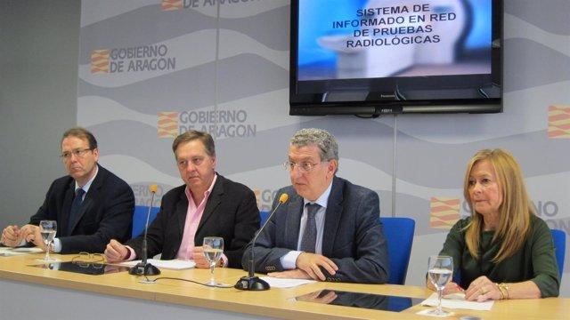 Javier Marzo, Juan José Soriano, Sebastián Celaya y Mª Teresa Martínez-Berganza