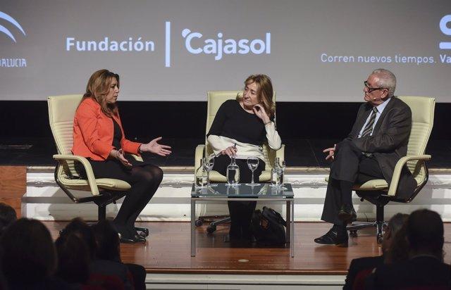 Susana Díaz y Rafael Escuredo en los encuentros de la SER sobre el 4-D