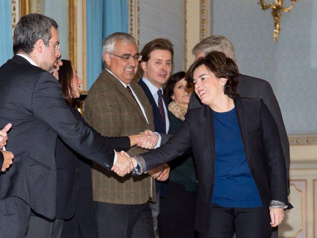 Cerina saluda a la vicepresidenta