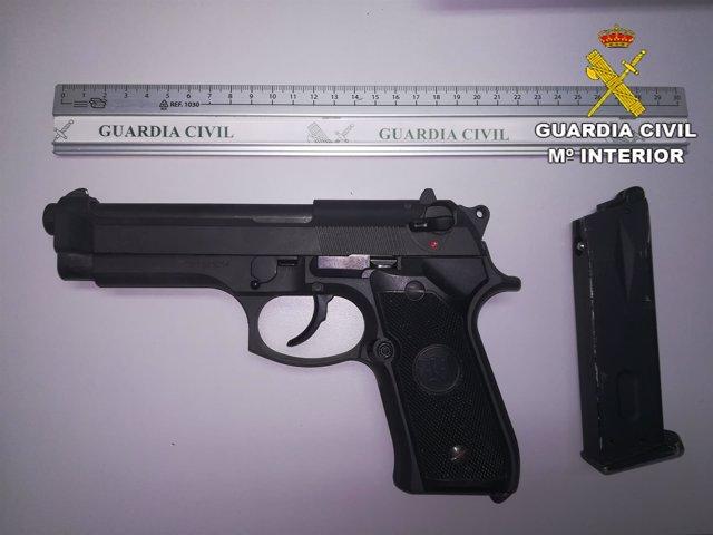 Pistola intervenida