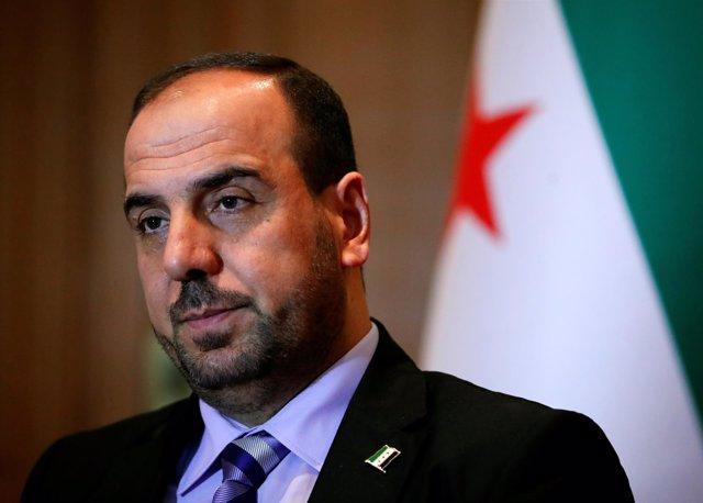 Nasr Hariri, jefe de la delegación opositora siria