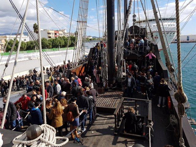 El Galeón Andalucía en el Puerto de Motril
