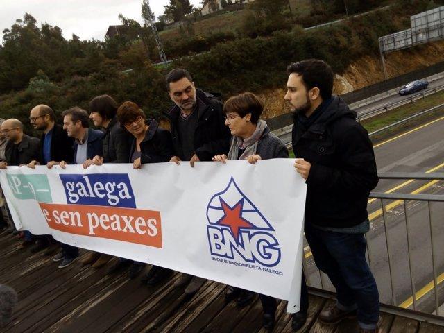 Protesta del BNG contra la AP-9