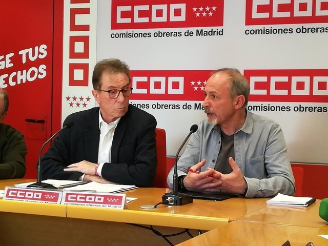 Jaime Cedrún y Emiliano Herrero, de CCOO