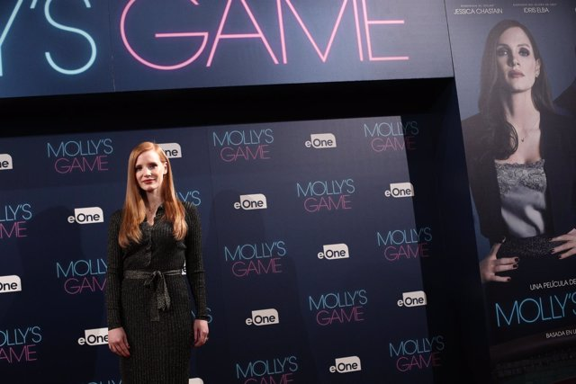 Photocall con Jessica Chastain por la película Molly's game