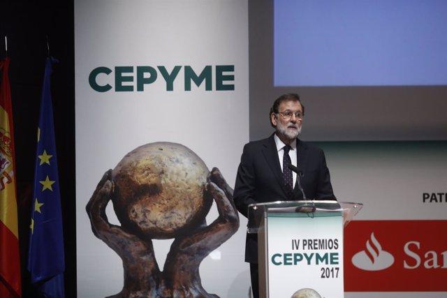 Rajoy entrega los IV Premios CEPYME