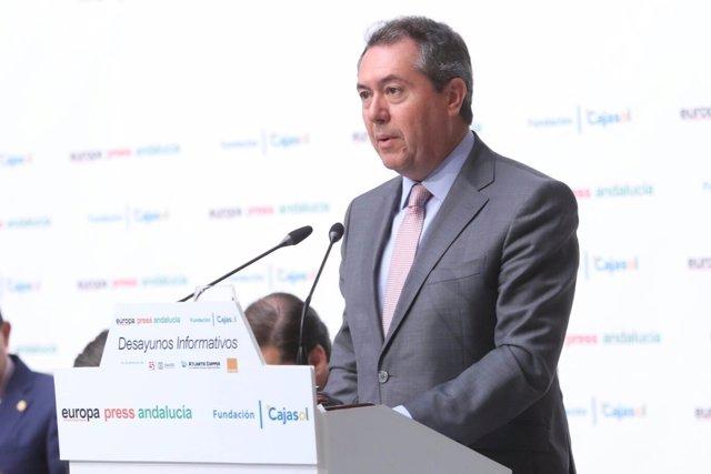 Juan Espadas, en los Desayunos de Europa Press Andalucía