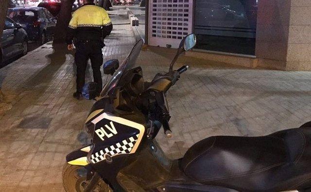 Efectivo de la Policía Local de València